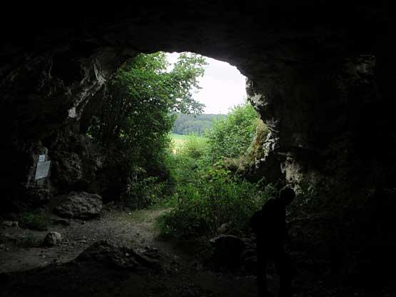 In der Großen Bocksteinhöhle