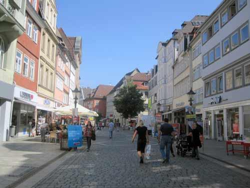 Die lange Fußgängerzone