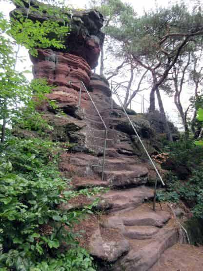 Treppe am Schwalbenfelsen