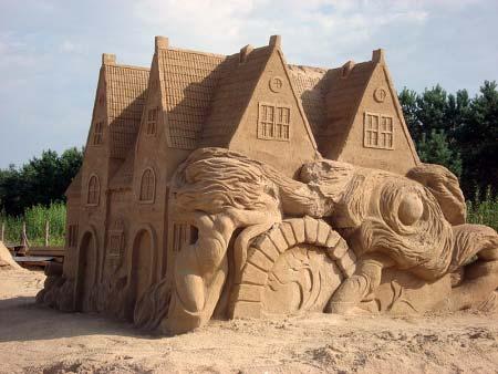 Sandskulptur Danzig
