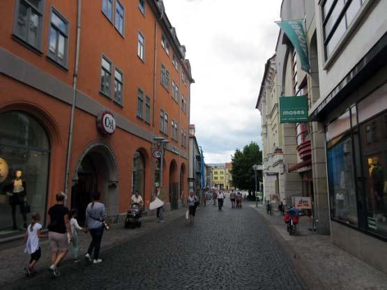 Geschäfte und Kaufhäuser, Gotha Fußgängerzone