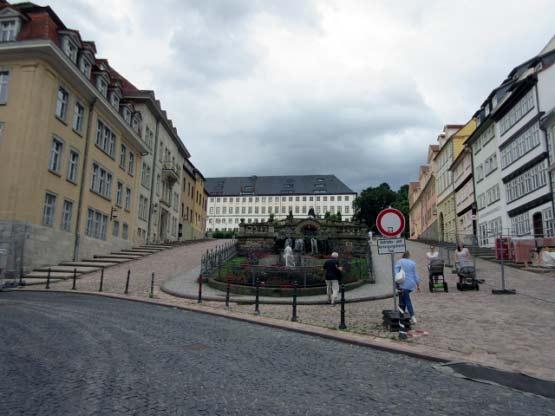 Die Wasserkunst vor Schloss Friedenstein