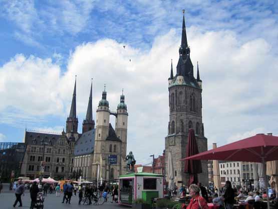 Der Rote Turm und die Marktkirche
