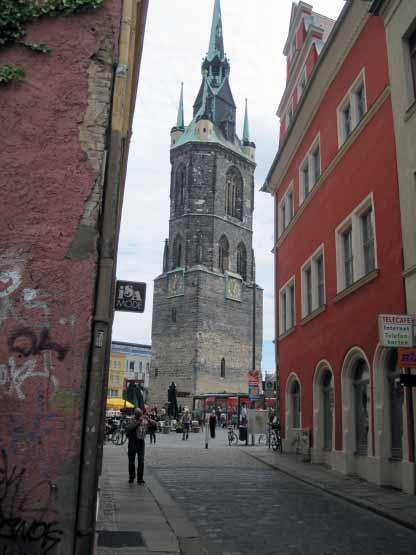 Marktschlösschen und Roter Turm, Halle an der Saale