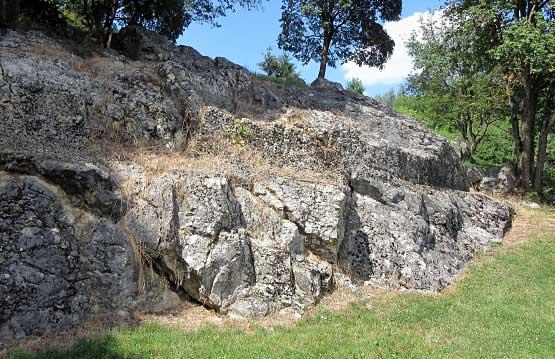 Das Kliff, hier war die Meereskante