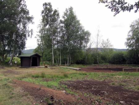 Hütte im Torf