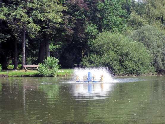 Julianenpark Wasserspiele, Springbrunnen, Bänke