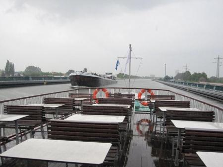 Kanal über Weser Brücke