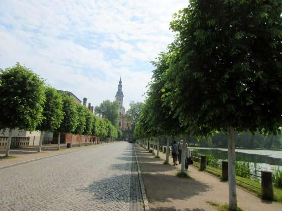 Zugangsweg zum Kloster Neuzelle