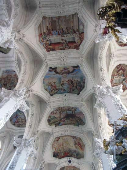 Wertvolle Deckenmalereien