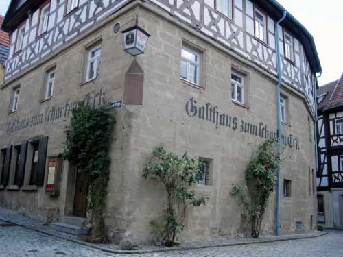 """Historisches Gasthaus """"Zum scharfen Eck"""""""