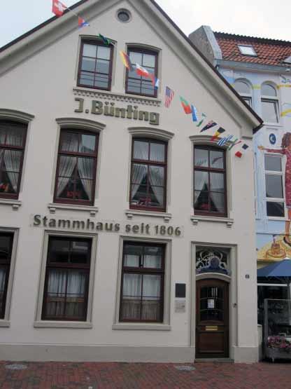 Tee-Stadt Leer, das Bünting-Stammhaus seit 1806