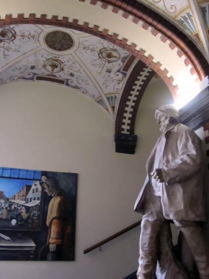 Bild im Bild im Leerer Rathaus