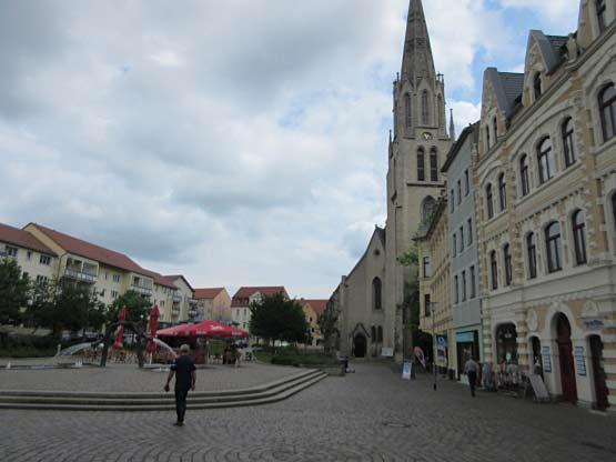 Merseburg - Marktplatz Entenplan mit Brunnen