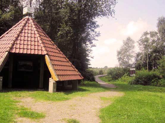 Moorhütte, Hütte am Moor