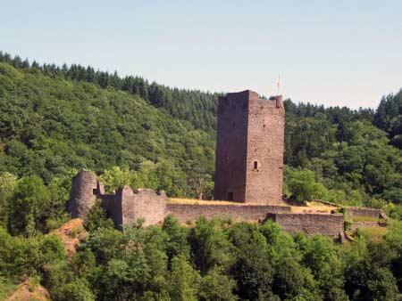 Oberburg Burg Manderscheid