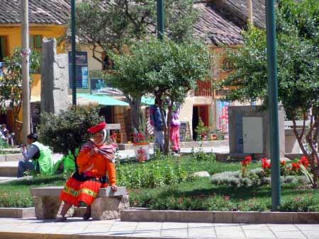 Ollantaytambo Hauptplatz