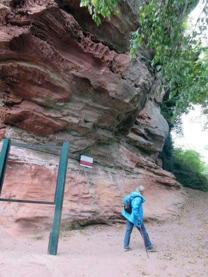 Aufstieg zur Ruine Lindelbrunn