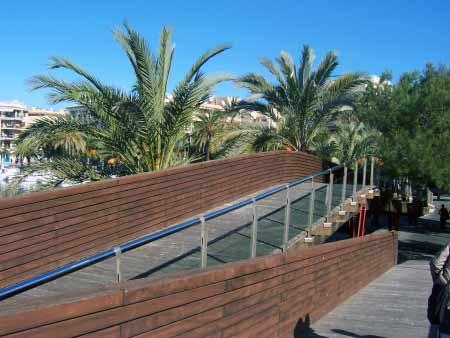 Praktisch: Holz-Wanderstege in Palmenhöhe