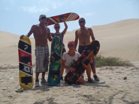 Sandboarden bei Trujillo