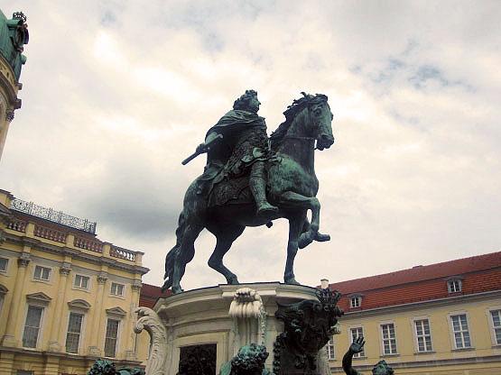 Reiter-Standbild Großer Kurfürst, Schloss Charlottenburg