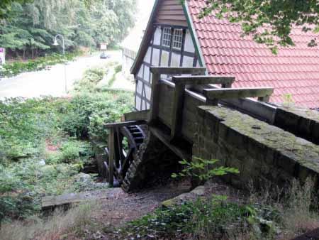 Wassermühle von oben